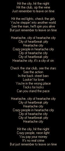 HEARTACHE CITY