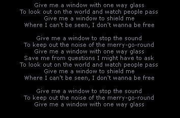 One Way Glass
